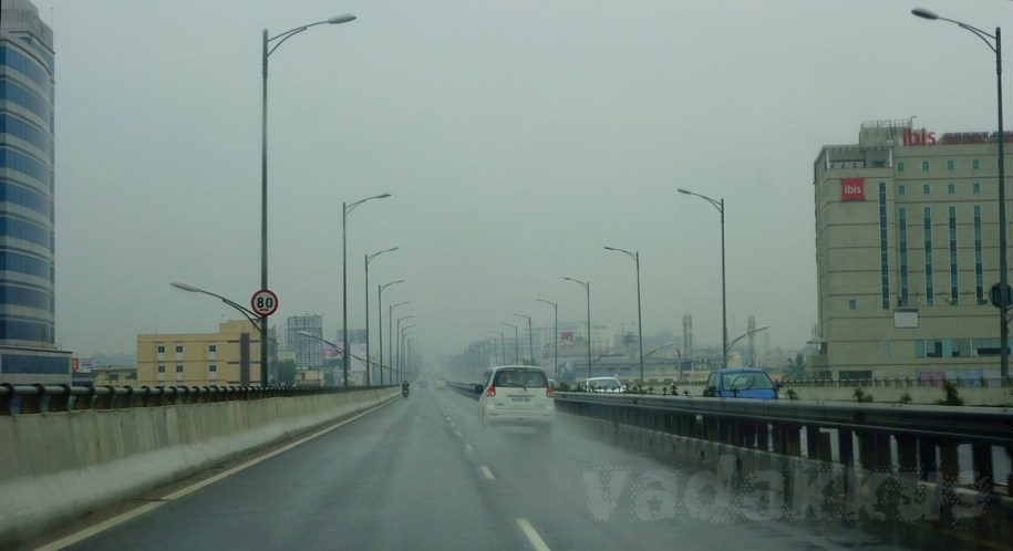 A Grey and Gloomy Bangalore Electronic City Elevated Expressway