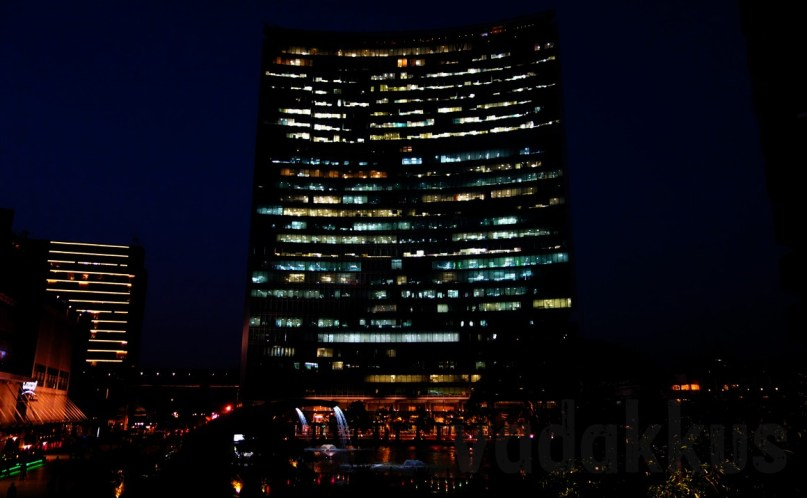 The Bangalore Brigade World Trade Center Tower at Night