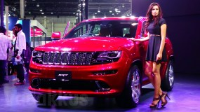 The Jeep Grand Cherokee SRT SUV with its 6.4L HEMI V8!