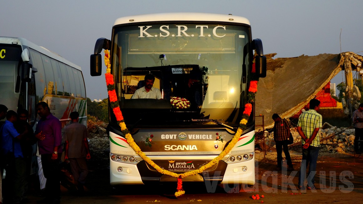 KSRTC new Garuda Maharaja Scania Metrolink bus