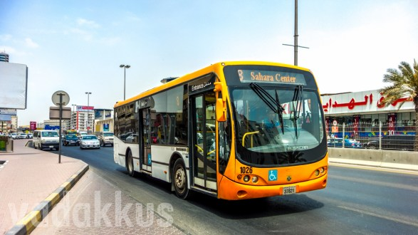 The Cute Little Busscar on Sharjah's Mowasalat Route 8