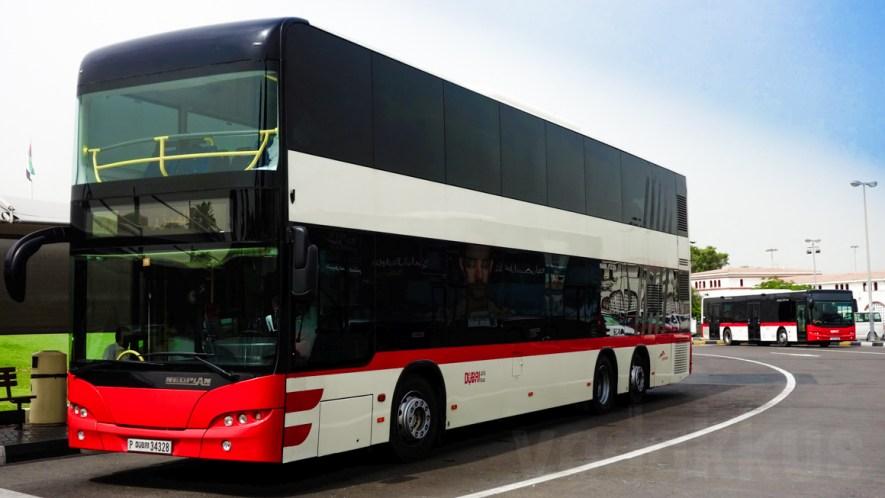 Dubai's Majestic MAN Neoplan Centroliner Double Decker Bus!