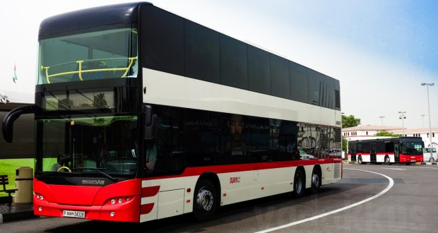 Dubai RTA's Neoplan Double Decekr bus at Sharjah Al Jubail bus terminal