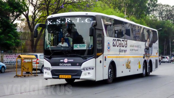 "A Karnataka KSRTC Scania Metrolink ""Airavata Diamond Class"" Bus"