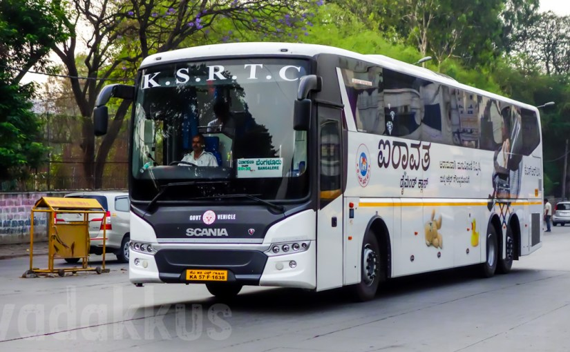 "A Karnataka KSRTC Scania Metrolink ""Airavata Diamond Class"" Bus"