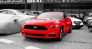 A 2016 Red Ford Mustang for Sale in Dubai Al Aweer second hand car market