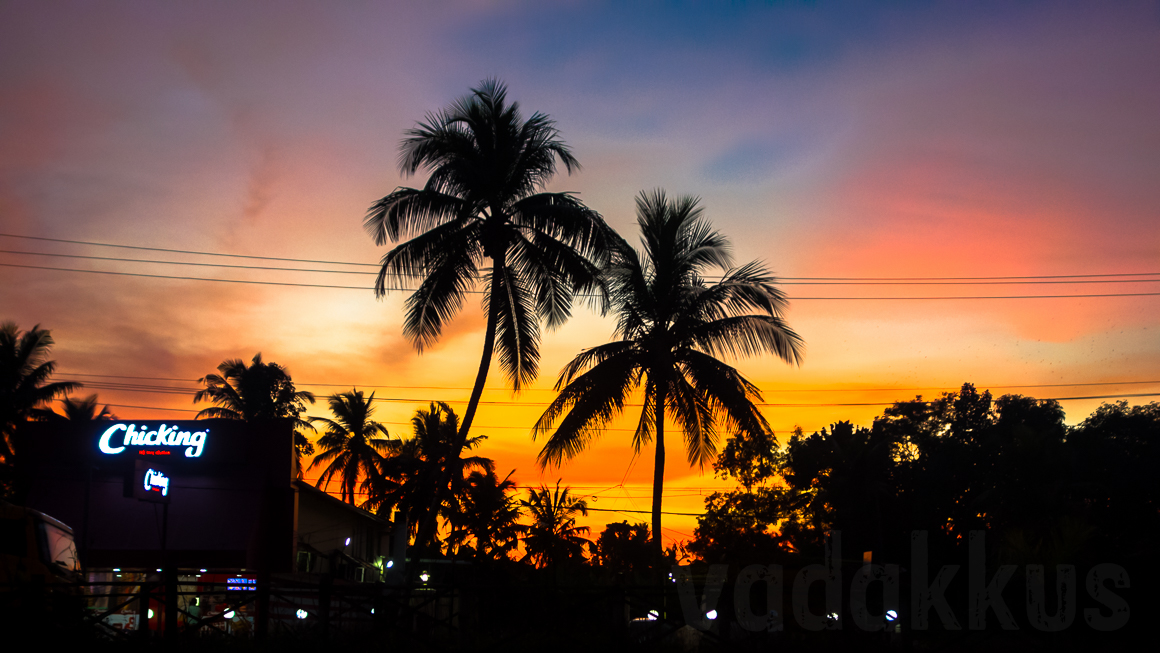 A Colorful Sunset at Kottayam