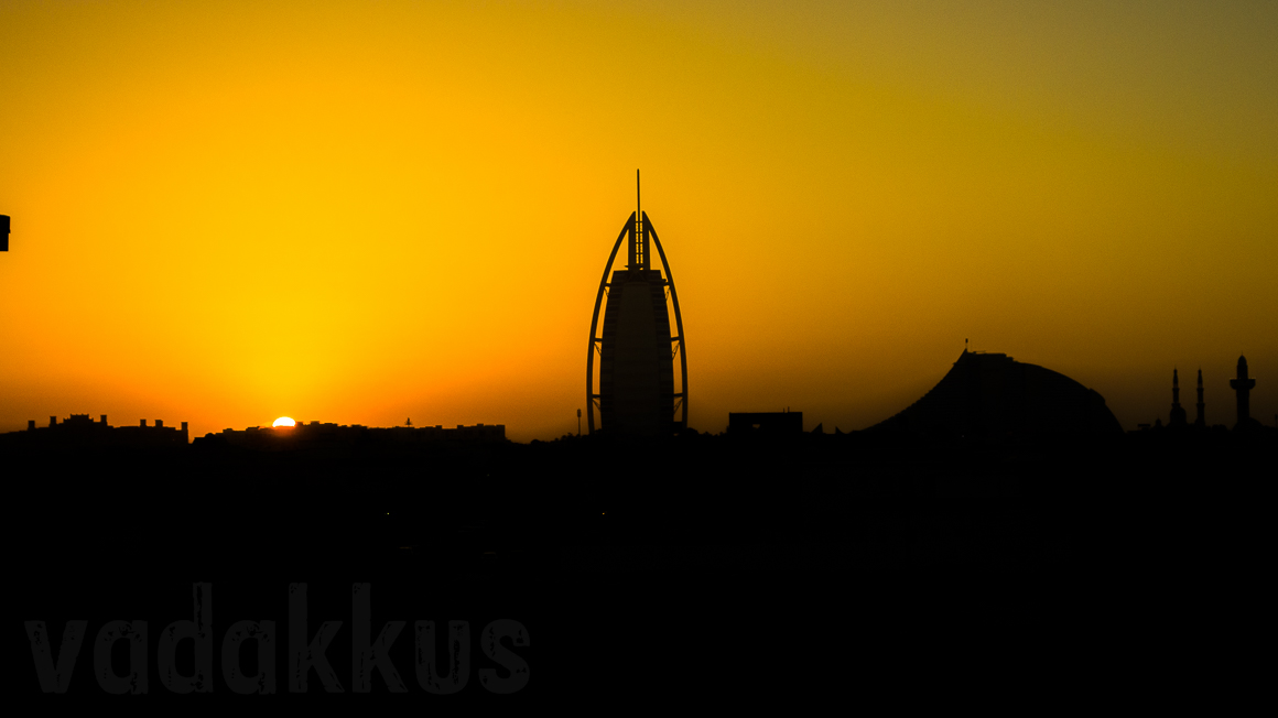 The Dubai Jumeirah Sunset Silhouette