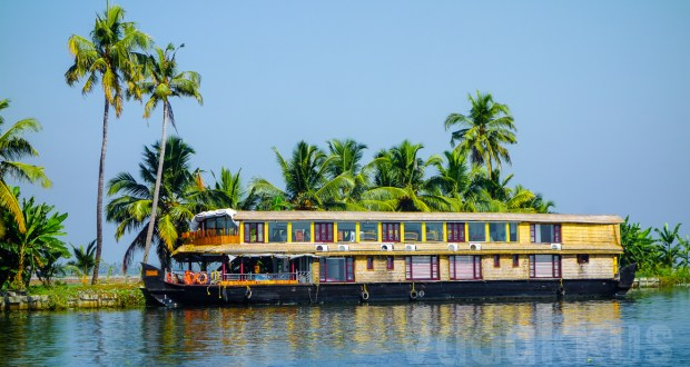 extra long double decker houseboat beautiful kerala backwater