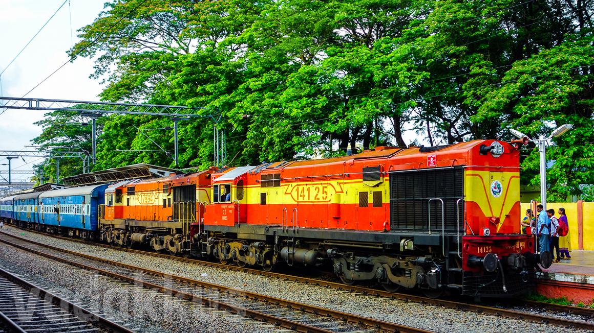 Twin Diesel ALCO Locomotives Indian Railways Ernakulam Kerala