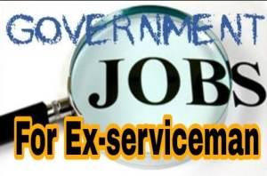 Ex servicemen jobs