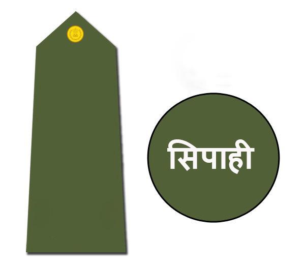 Indian army rank sepoy