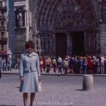 A portrait by the Notre Dame de Paris Cathedral