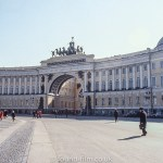 The entrance to the Palace Square in St. Petersburg