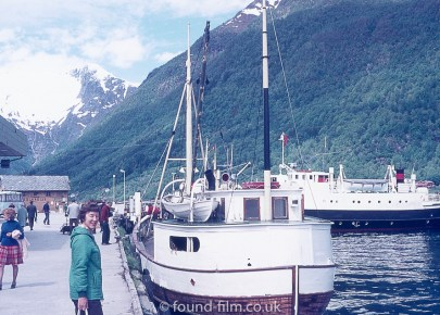 Boats on an alpine quay