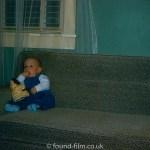 Child on sofa