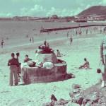Very old beach scene