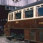 Railway carriage in restoration