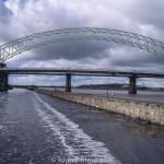 Runcorn bridge on the Manchester Ship Canal