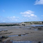 Sandy beach and low tide