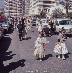 Two little girls in national costume