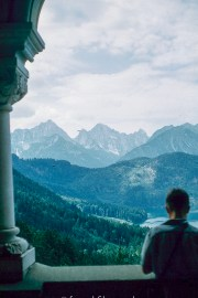 View from the throne room balcony at Neuschwanstein