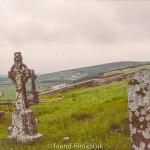 Graveyard on a hillside