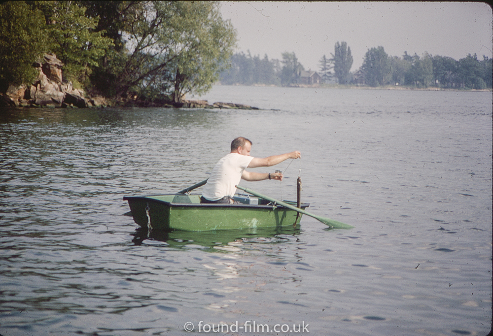 Man in a row boat