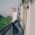 Man on the balcony of a hotel