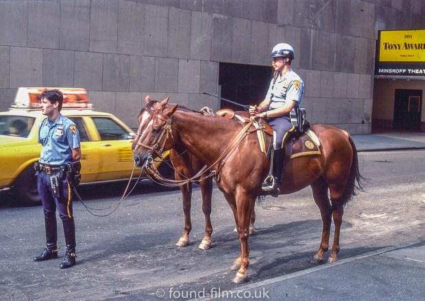 Mounted policeman at the Tony Awards