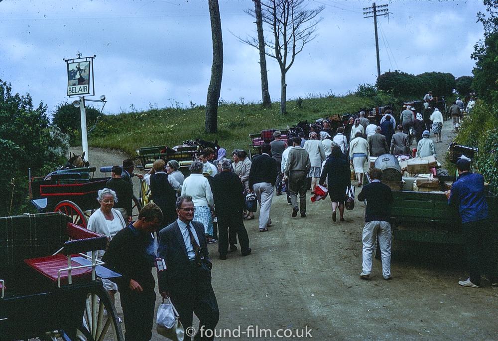 Bel Air Inn and horse drawn carts