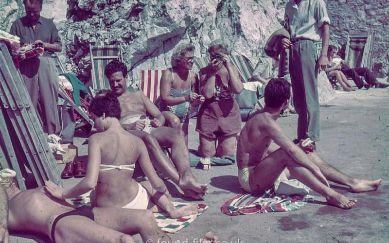 Family or Group sunbathing