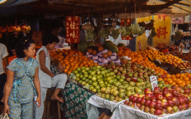 Fruit stall in Singapore market