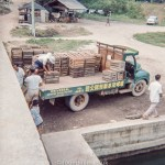 Loading a lorry in Singapore c1965