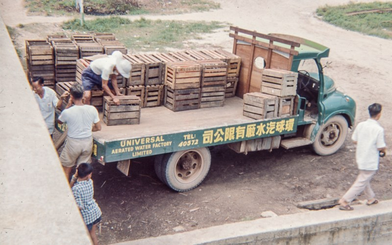 Loading a lorry in Singapore, early 1960s
