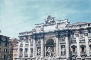 Palazzo poli and trevi fountain