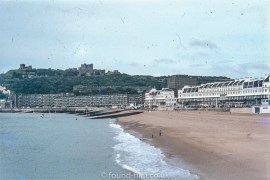 The beach and castle at Dover