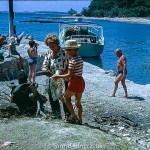 Woman and child on a boating holiday – July 1966