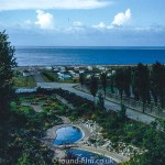 View over Holiday Resort to the sea beyond