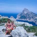 Woman and child in mountain snap shot – July 1966