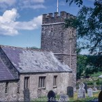 Oare church and graveyard, Somerset, July 1969