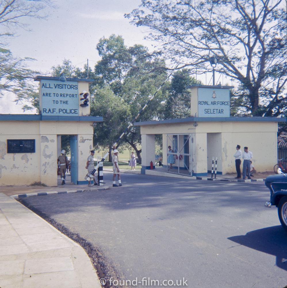 RAF Seletar entrance
