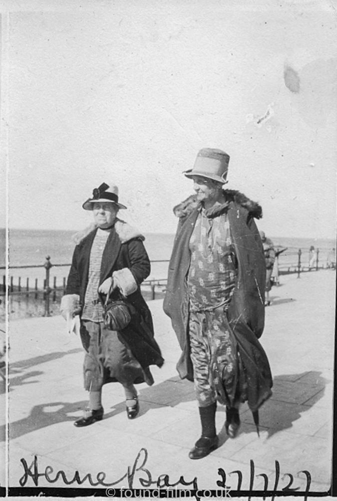 Two women in Herne Bay - 27th July 1927