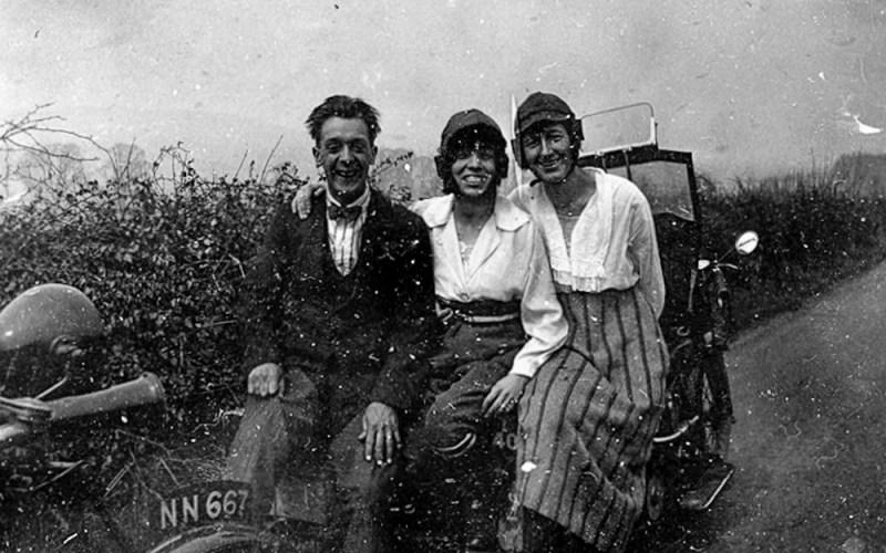 Group on Car bonnet
