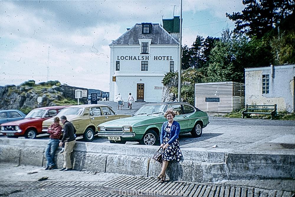 Lochalsh Hotel in Scotland taken in the mid-1970s