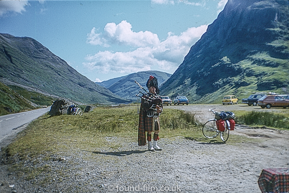 Piper in the Highlands of Scotland