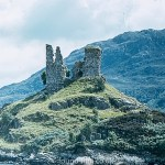 Caisteal Maol Ruins on hilltop, Isle of Skye
