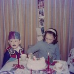 Children eating cake at Christmas