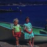 Girls by boat