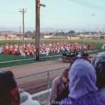 Graduation ceremony on sports field, October 1972